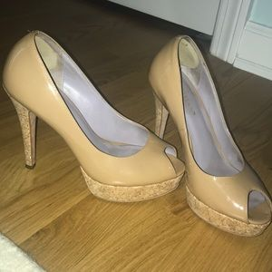Cole Haan tan leather heels